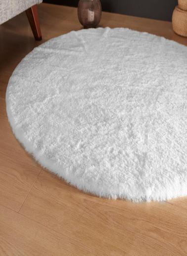Dolce Bonita Home Peluş Post Halı Beyaz